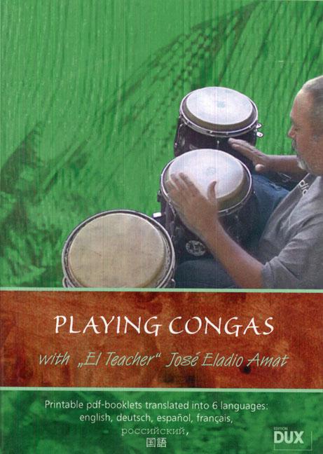 André Várkonyi: Playing Congas - with El Teacher Jose Eladio Amat: Congas: