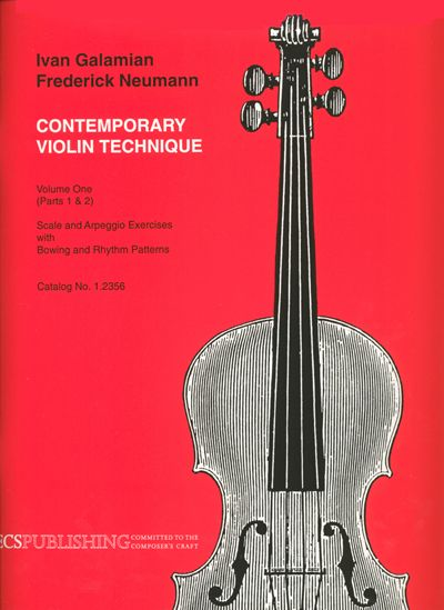 Ivan Galamian: The Galamian Contemporary Violin Technique Vol. 1: Violin: