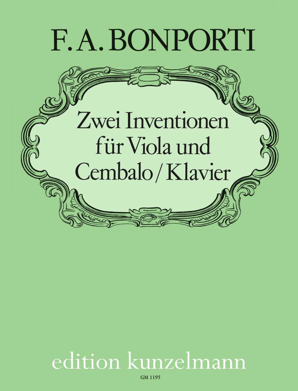 Francesco Antonio Bonporti: 2 Inventionen Für Viola: Viola: Instrumental Work