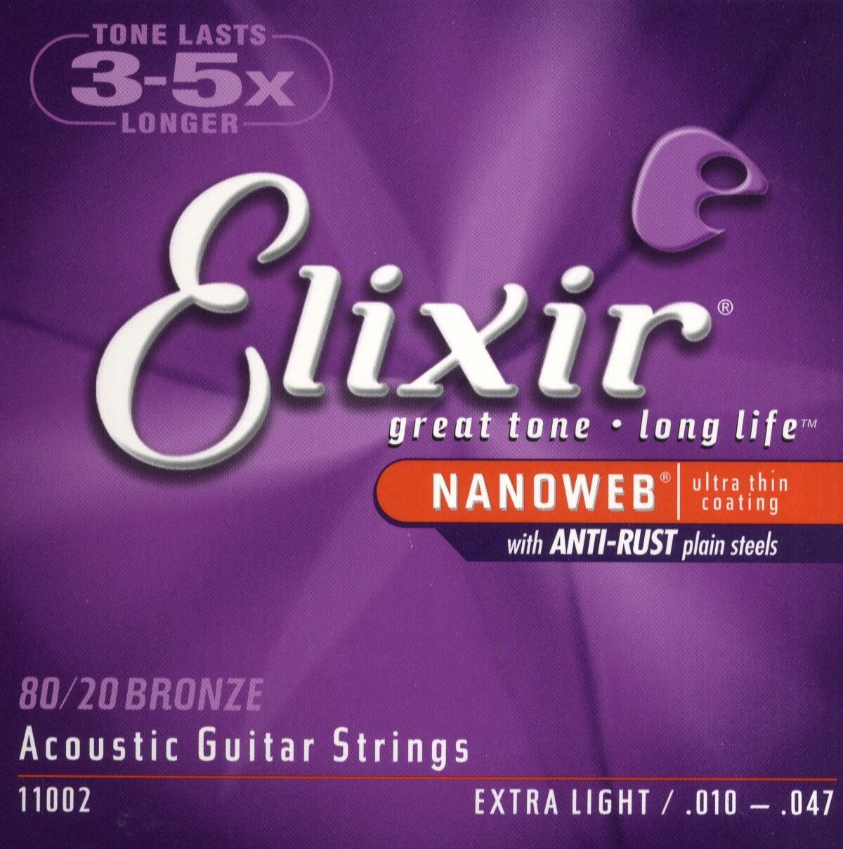 Nanoweb Acoustic Guitar Strings X Light 010-047: Strings