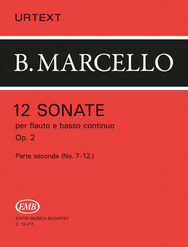 Benedetto Marcello: 12 Sonate op. 2 Vol. 2: Flute: Instrumental Work