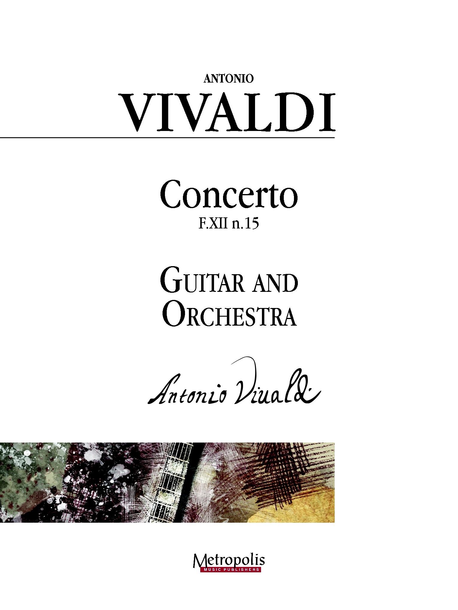 Antonio Vivaldi: Concerto in D Major: Orchestra: Score and Parts