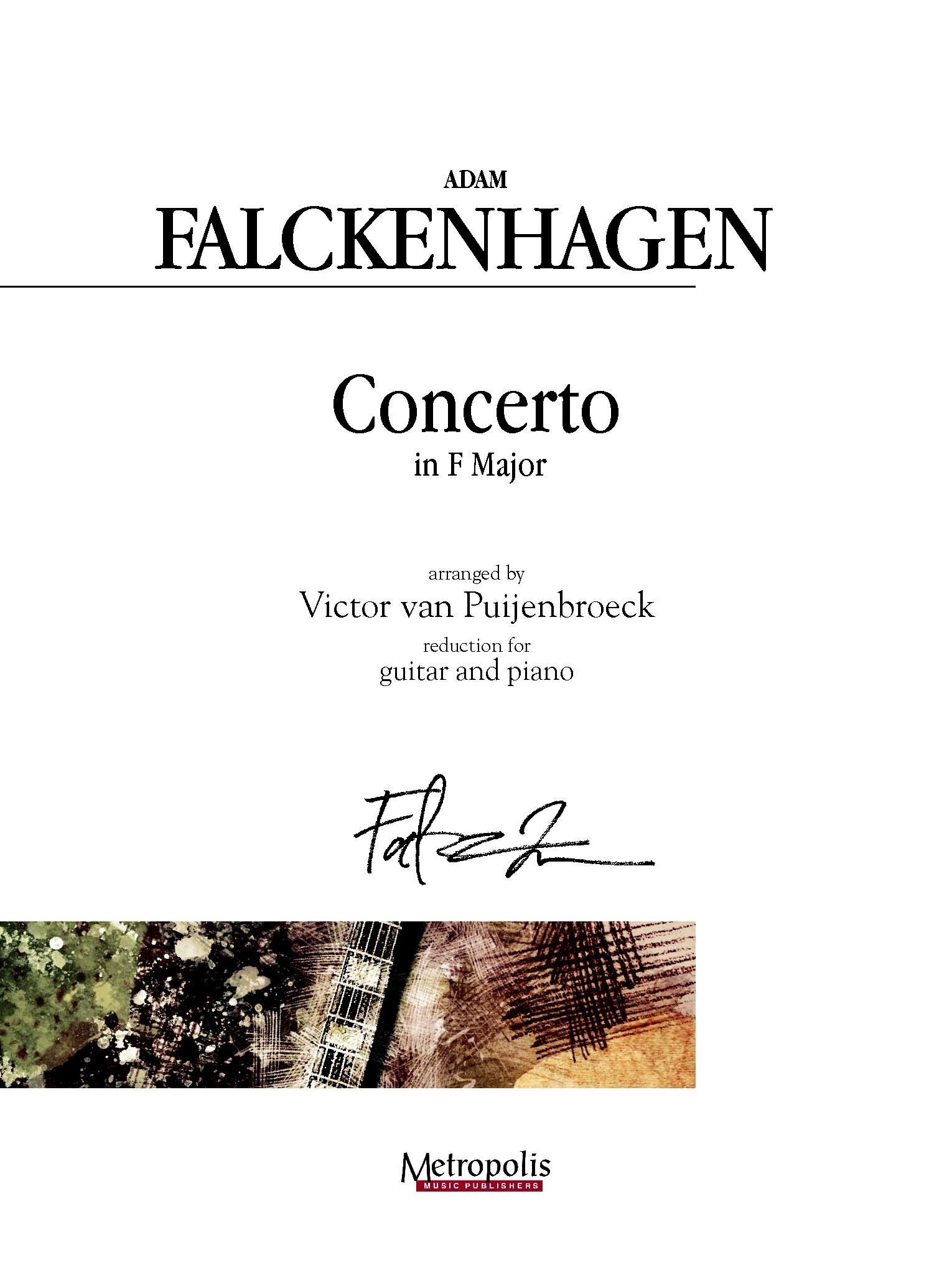 Adam Falckenhagen: Concerto in F Major: Orchestra: Score and Parts