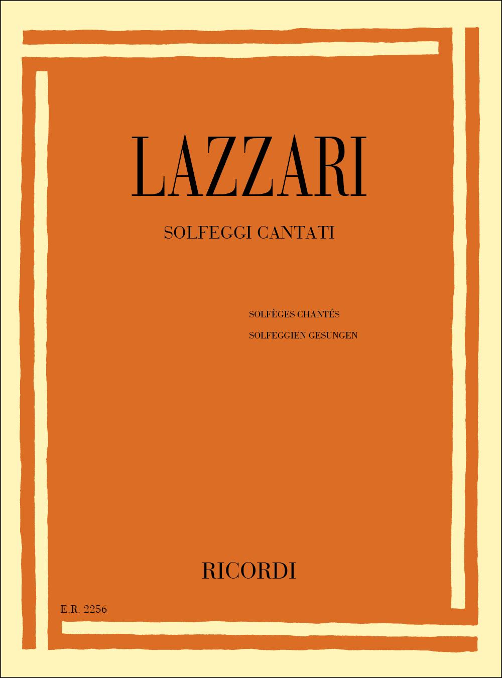 A. Lazzari: Solfeggi Cantati: Solfege