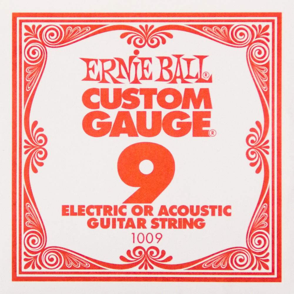 0.09 Plain Steel Ballend Guitar String: Strings