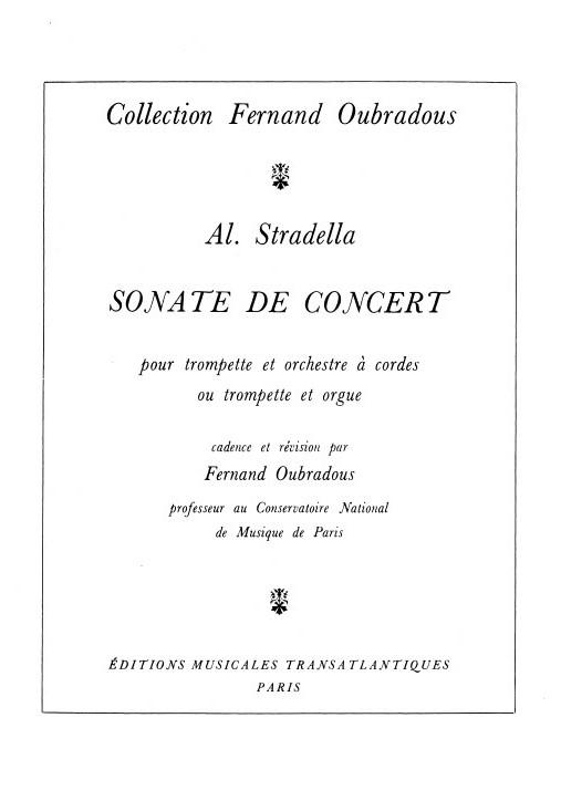 Alessandro Stradella: Sonate De Concert: Trumpet
