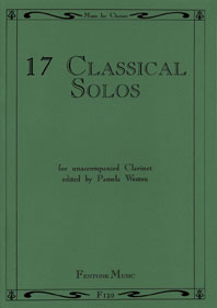 17 Classical Solos: Clarinet: Instrumental Collection