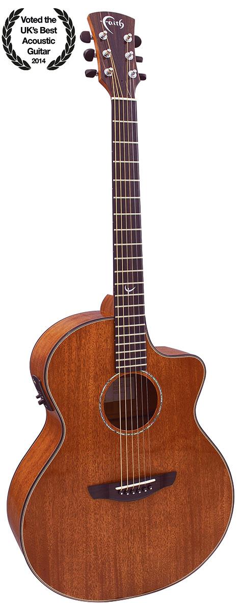 Mahogany Neptune Cutaway Electro Acoustic Guitar: Acoustic Guitar