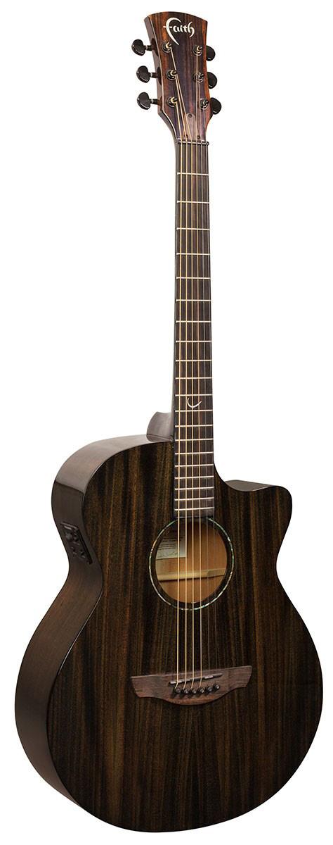 Faith Nexus Venus CutAway Black: Acoustic Guitar