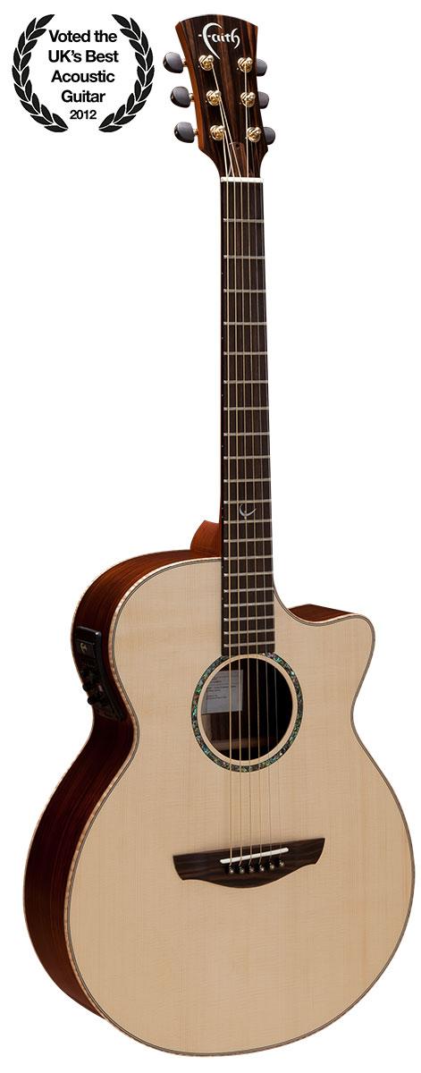 Hi Gloss Venus Cutaway Electro Acoustic Guitar: Acoustic Guitar