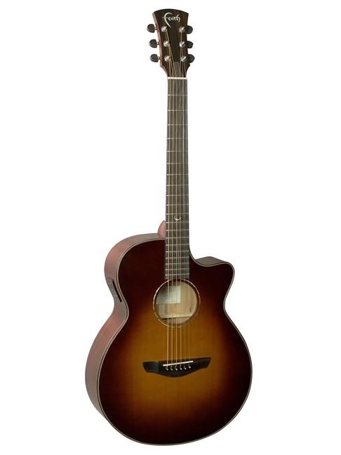 Faith Venus Classic Burst Electro Cut Guitar: Acoustic Guitar