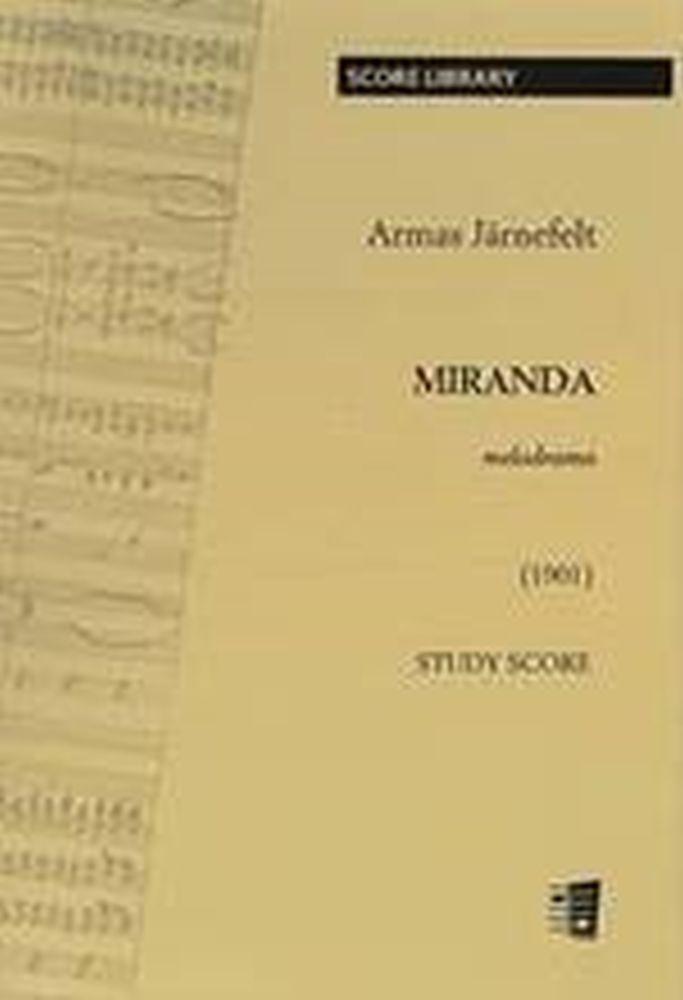 Armas Järnefelt: Miranda: Study Score