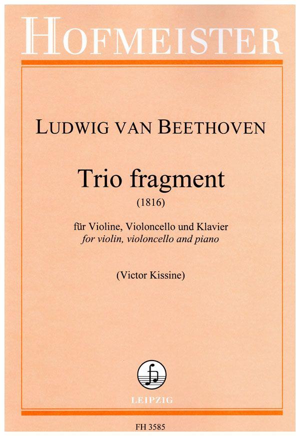 Ludwig van Beethoven: Trio Fragment: Chamber Ensemble: Score & Parts