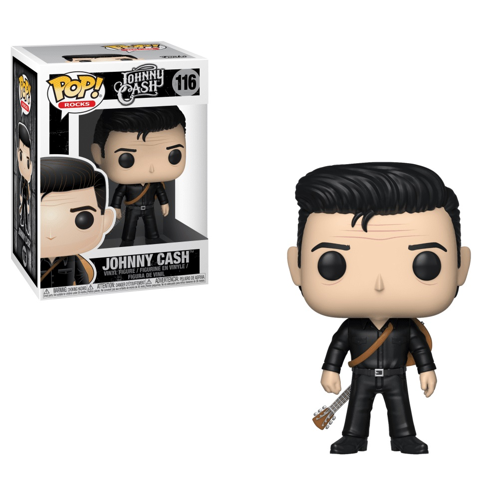Pop Rocks Johnny Cash Black Pop Vinyl: Ornament