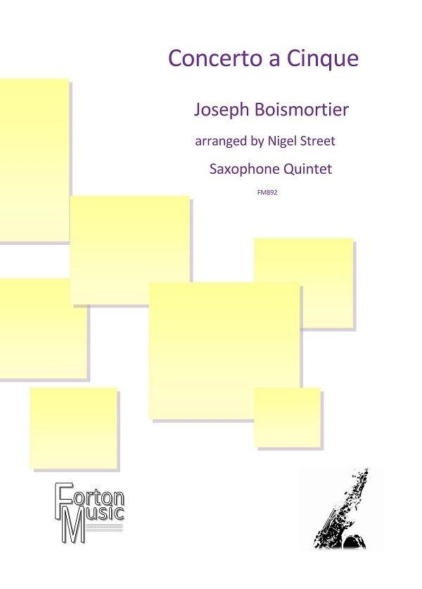 Joseph Boismortier: Concerto a Cinque: Woodwind Ensemble: Score and Parts