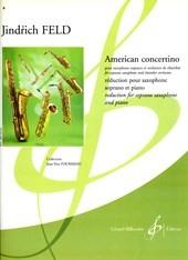 Jindrich Feld: American Concertino: Alto Saxophone: Score