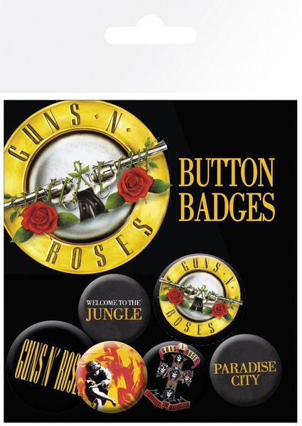 Guns N Roses Lyrics & Logos Badge 6 Pack: Stationery