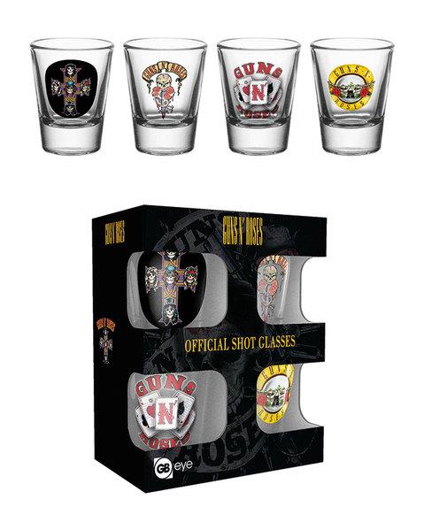 Guns N Roses Shot Glasses Pack Of 4: Kitchenware