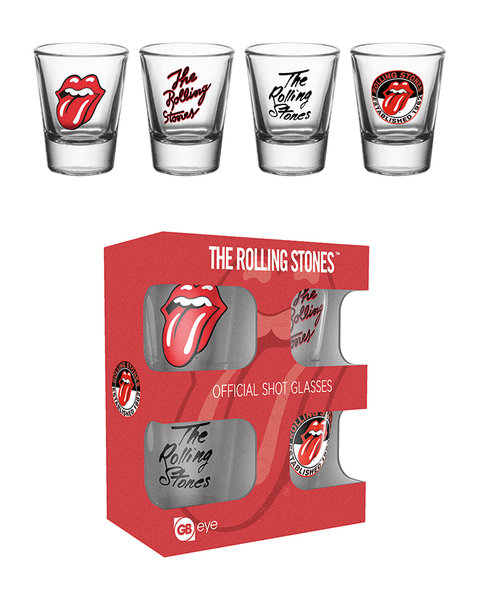 Rolling Stones Shot Glasses Pack Of 4: Kitchenware