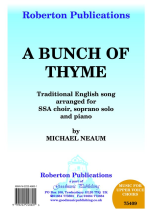 Bunch Of Thyme: Mixed Choir: Vocal Score