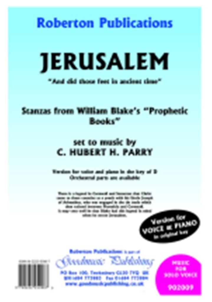 C. Hubert Parry: Jerusalem: Vocal