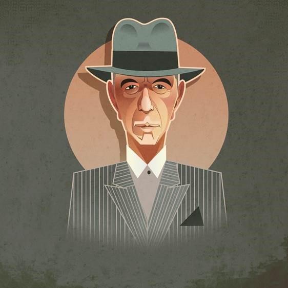 Pop Art Icons Leonard Cohen Card: Greetings Card