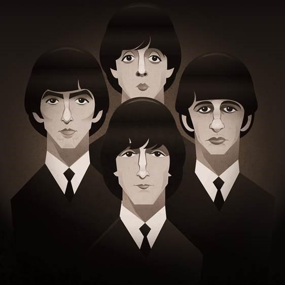 Pop Art Icons The Beatles Card: Greetings Card