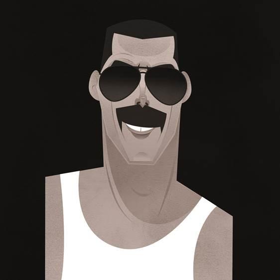 Pop Art Icons Freddie Mercury Card: Greetings Card