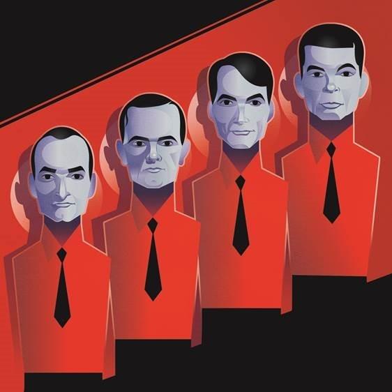 Pop Art Icons Kraftwerk Card: Greetings Card
