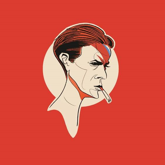 Pop Art Icons David Bowie Card: Greetings Card