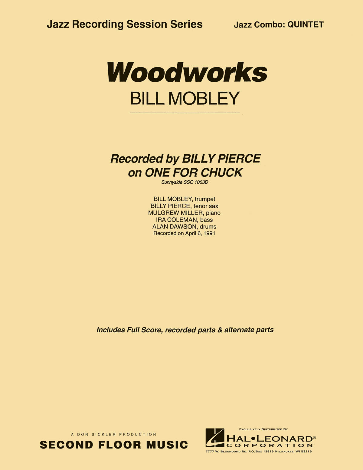 Bill Mobley: Woodworks: Jazz Ensemble: Score & Parts