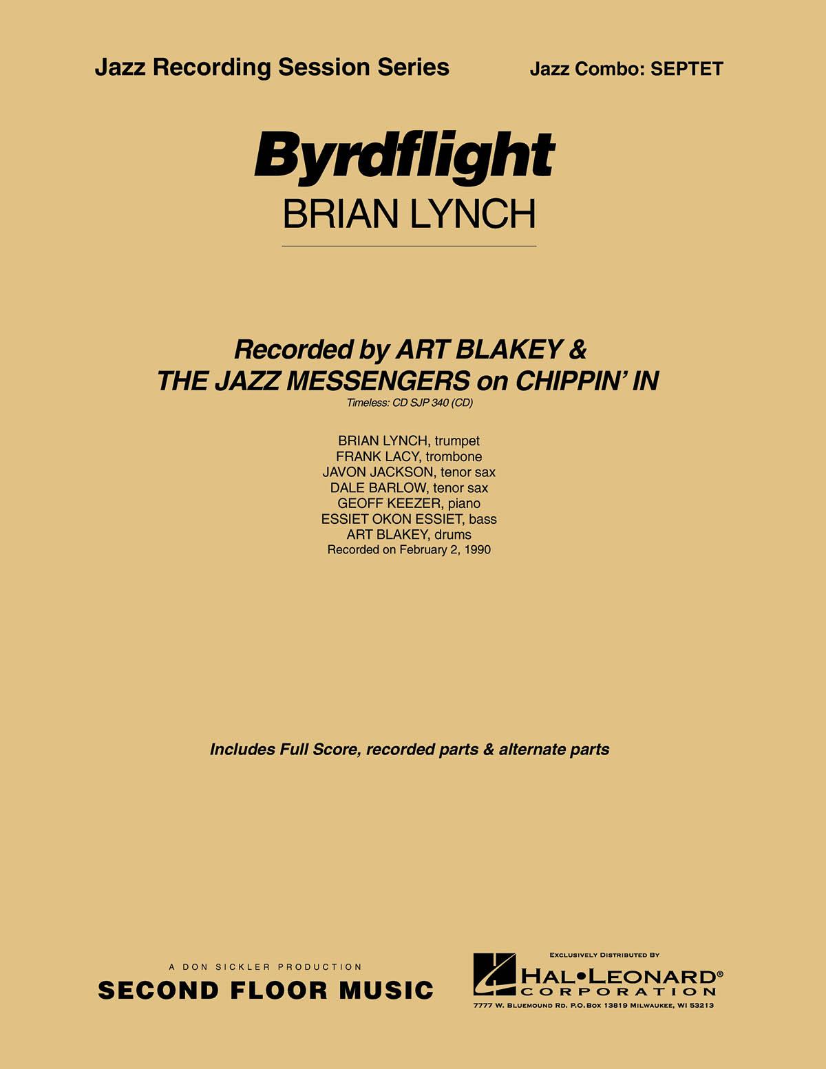 Brian Lynch: Byrdflight: Jazz Ensemble: Score & Parts