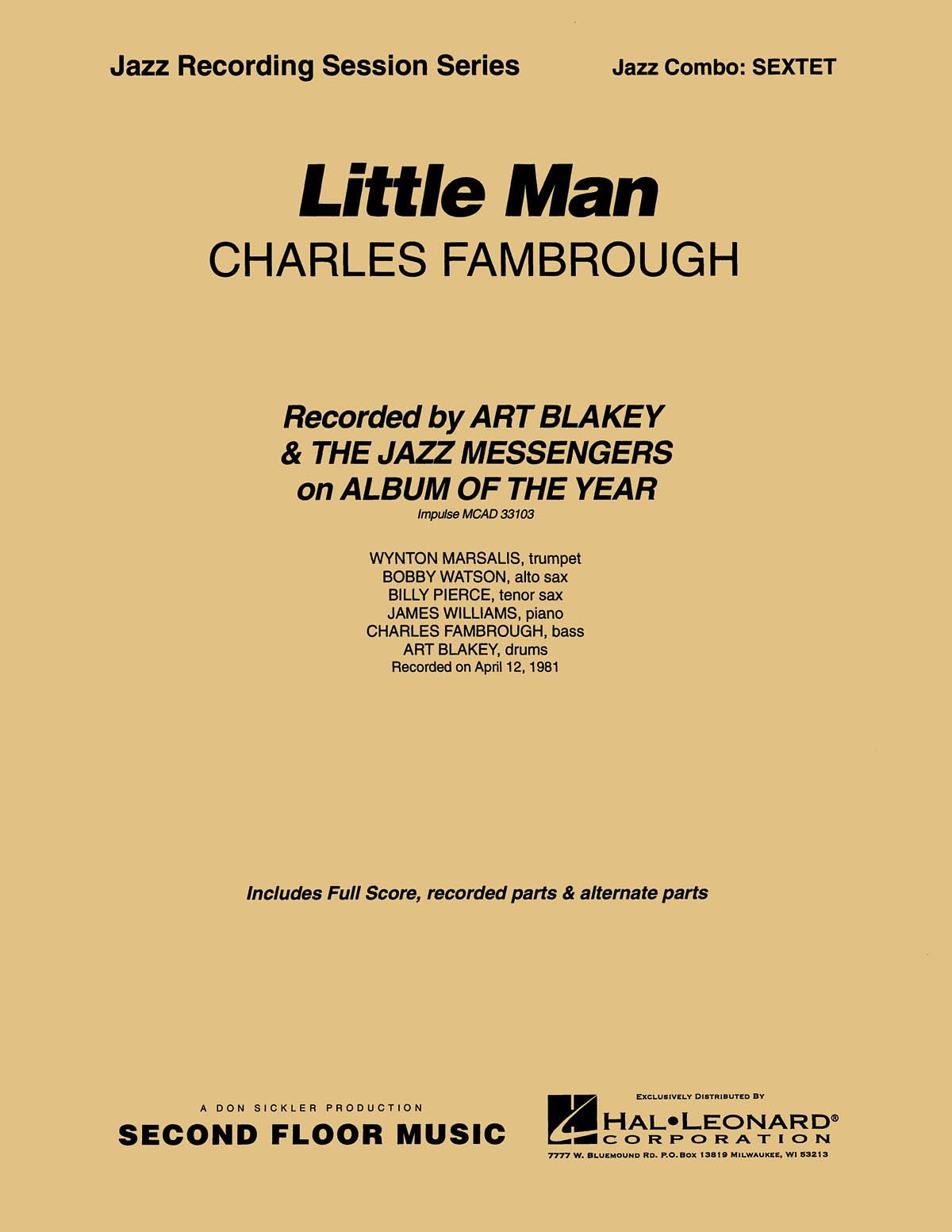 Charles Fambrough: Little Man: Jazz Ensemble: Score & Parts