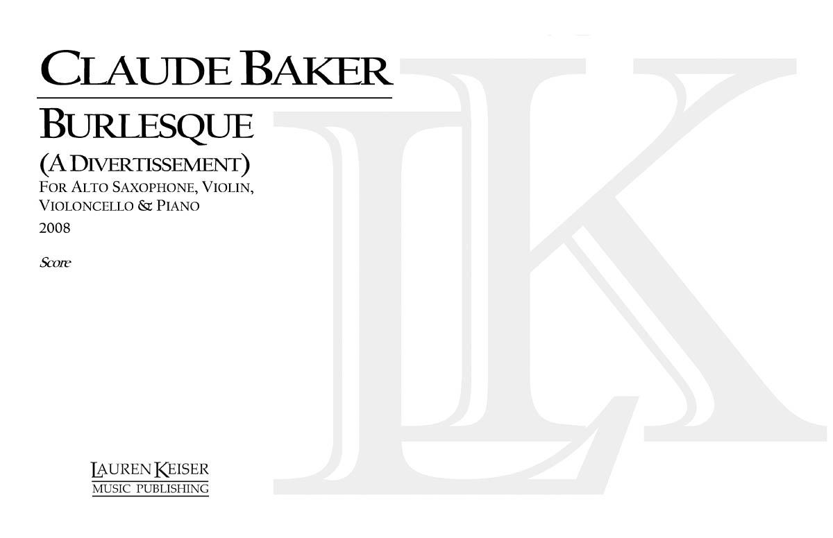 Claude Baker: Burlesque: Cello Solo: Full Score