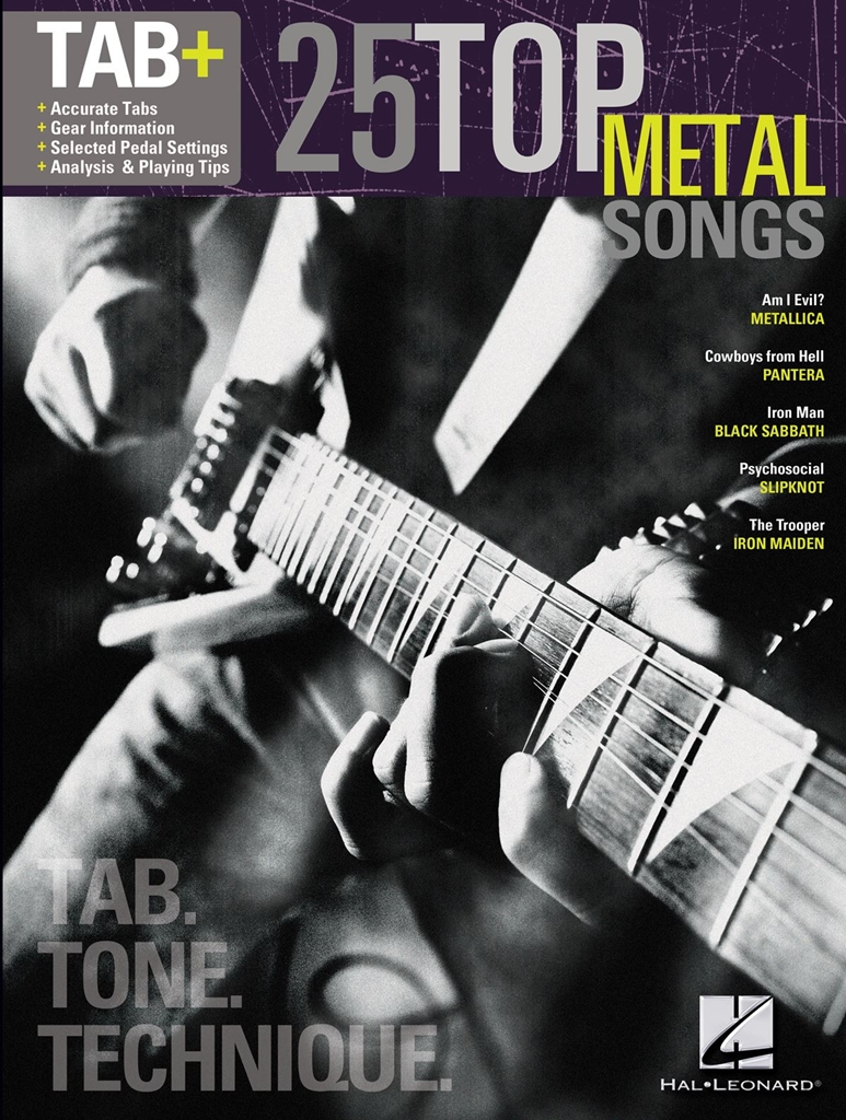 25 Top Metal Songs - Tab. Tone. Technique.: Guitar Solo: Mixed Songbook