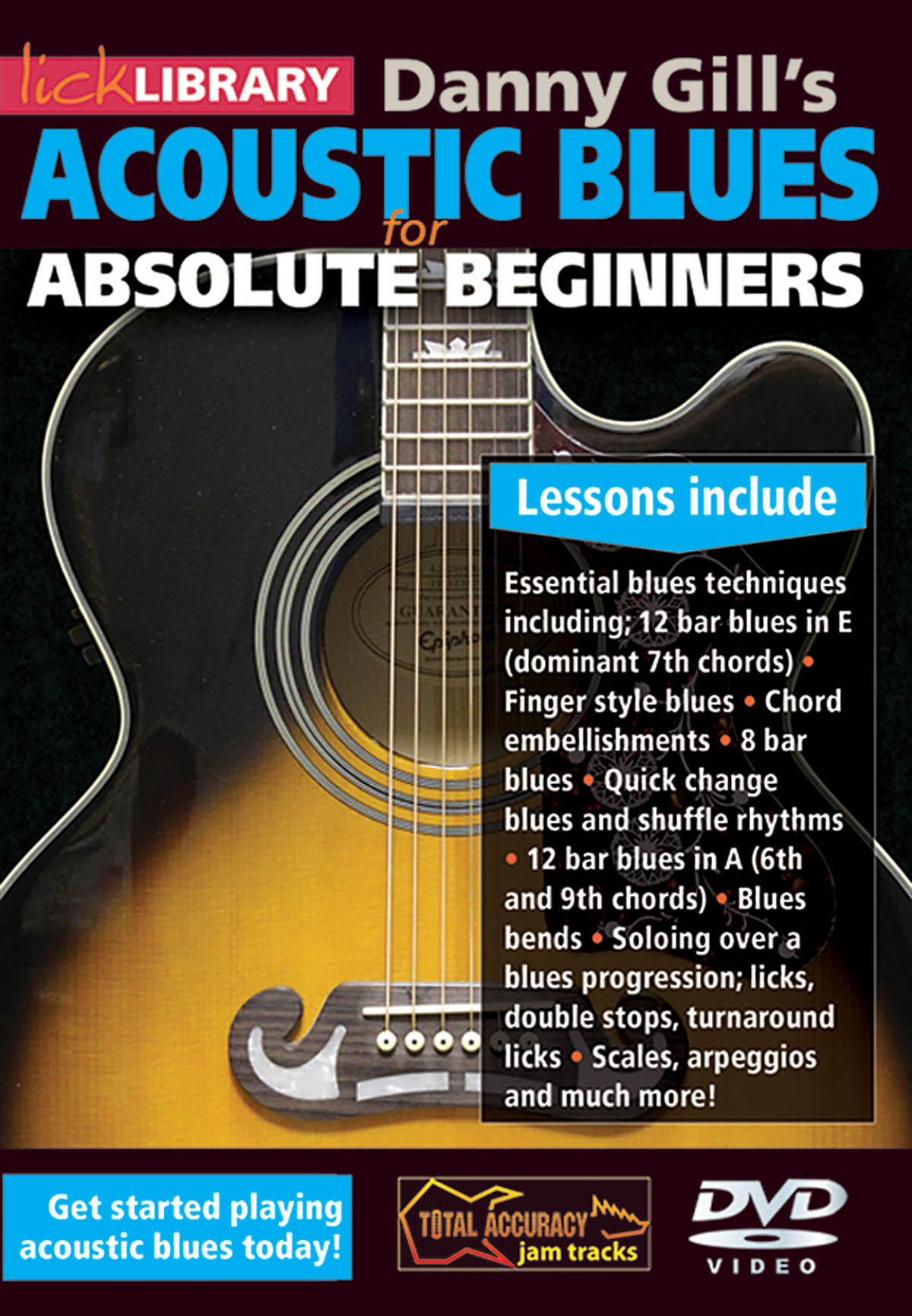 Acoustic Blues for Absolute Beginners: Guitar Solo: DVD