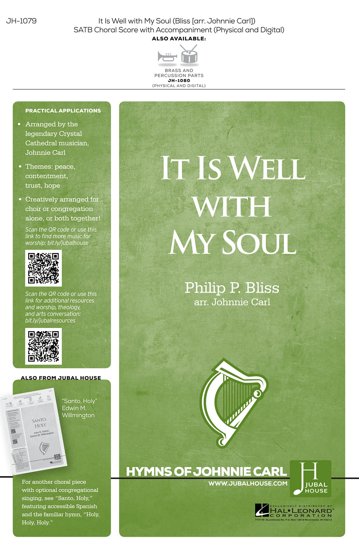 It Is Well with My Soul: Mixed Choir a Cappella: Vocal Score