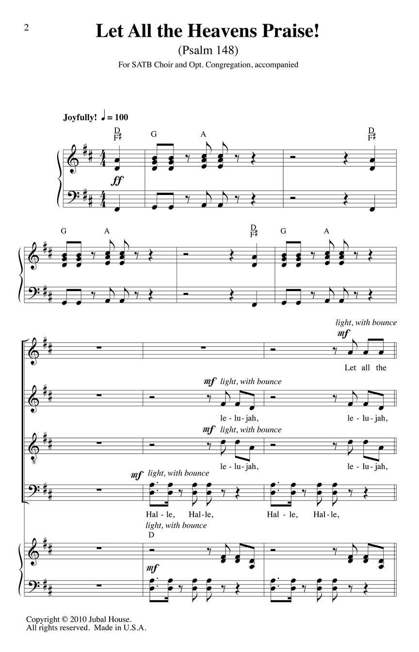 Clayton J. Schmit Edwin M. Willmington: Let All the Heavens Praise!: Mixed Choir