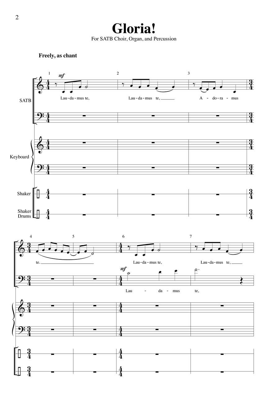 Edwin M. Willmington: Gloria!: Mixed Choir a Cappella: Vocal Score