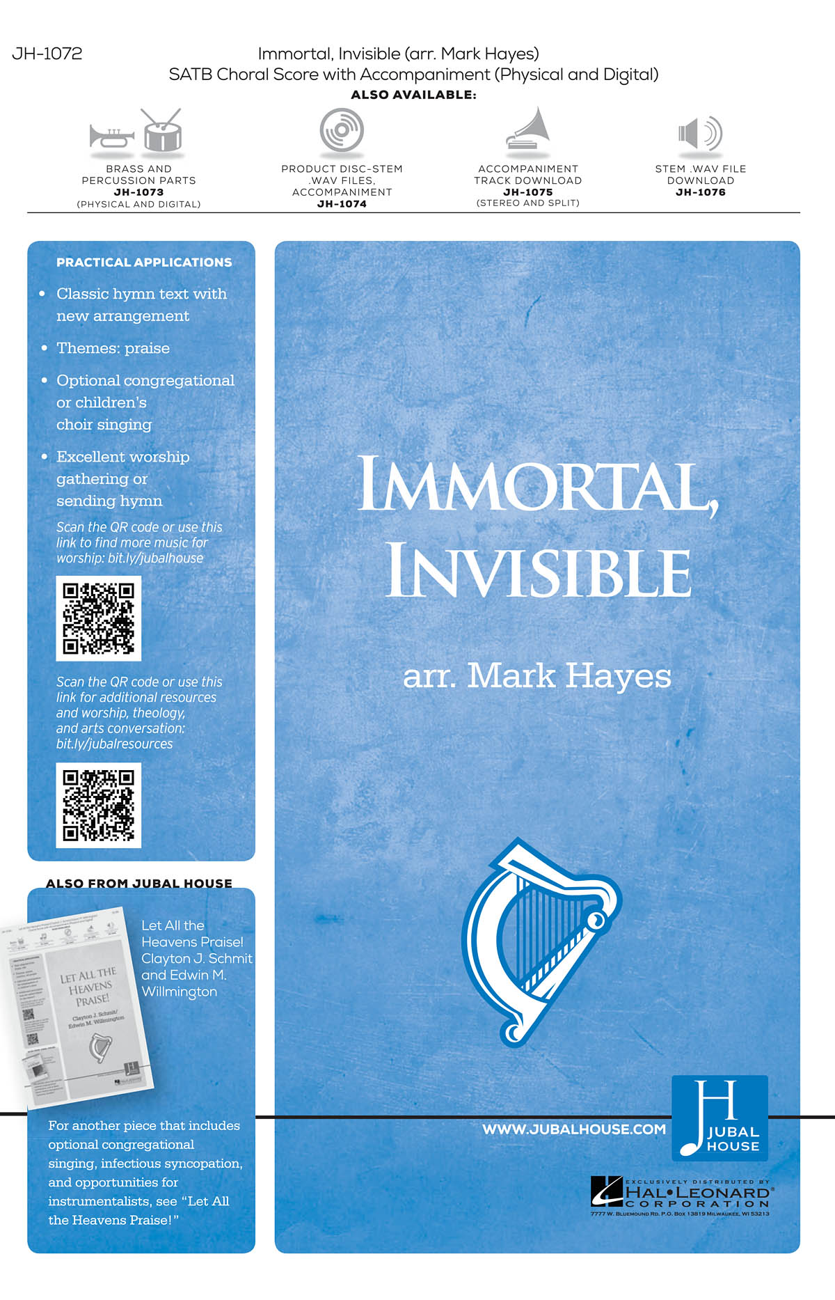 Immortal Invisible God Only Wise: Mixed Choir a Cappella: Vocal Score