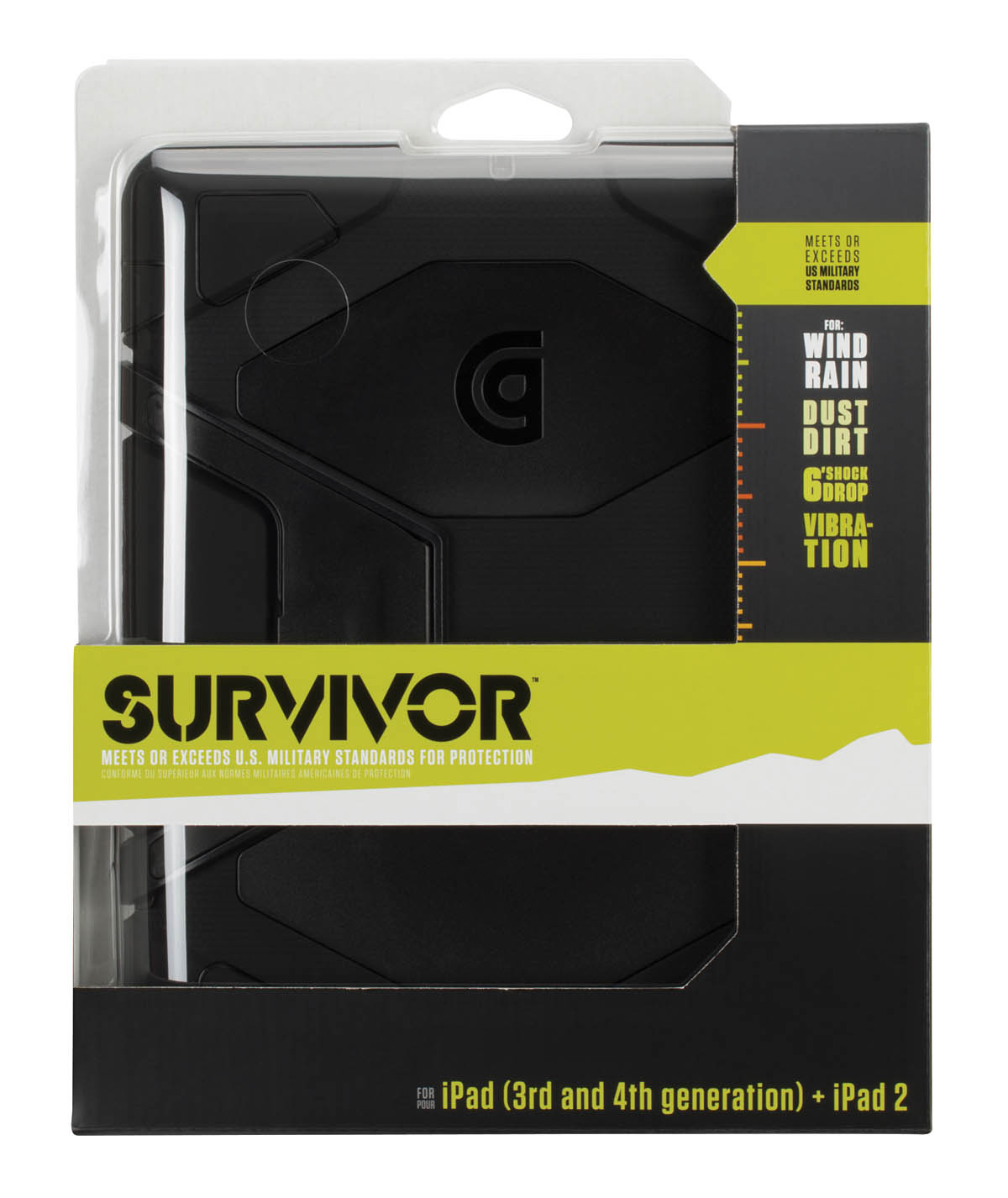 Survivor for iPad 2 iPad 3 and iPad (4th Gen): Case