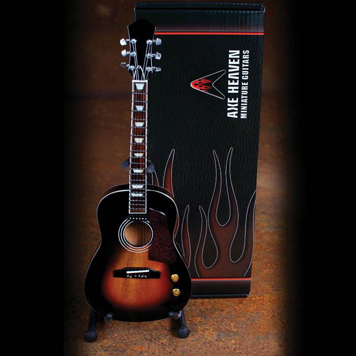 Axe Heaven Acoustic Vintage Sunburst Finish Miniature Guitar Replica