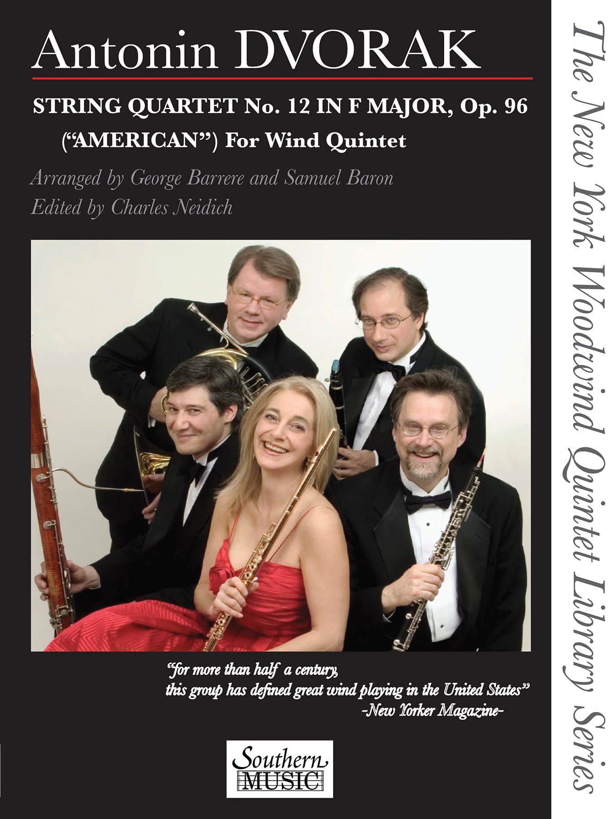 Antonín Dvořák: String Quartet No. 12 in F Major: Wind Quintet: Score & Parts