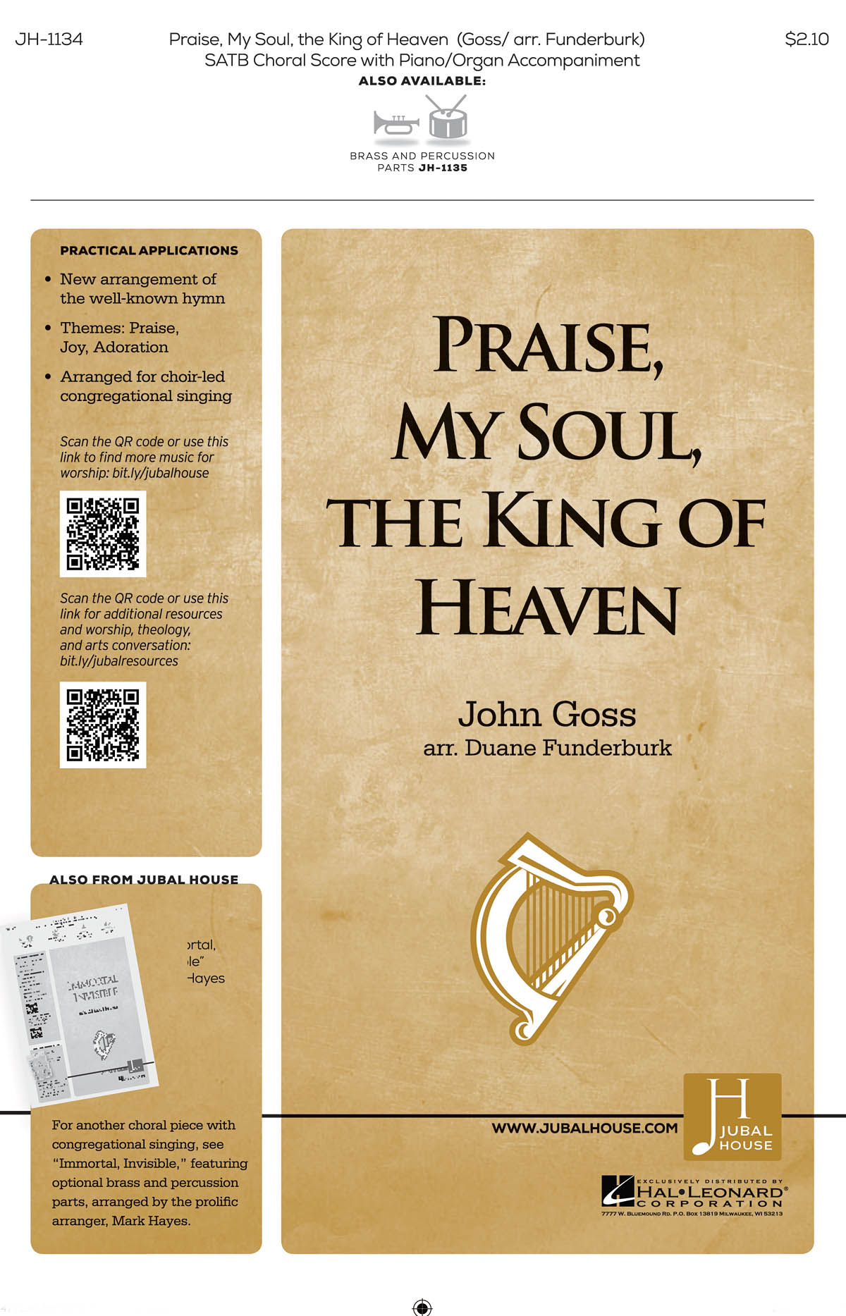 Henry Lyte: Praise My Soul the King of Heaven: Mixed Choir a Cappella: Vocal