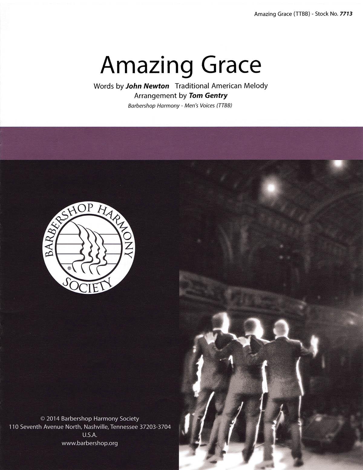 Amazing Grace: Lower Voices a Cappella: Vocal Score