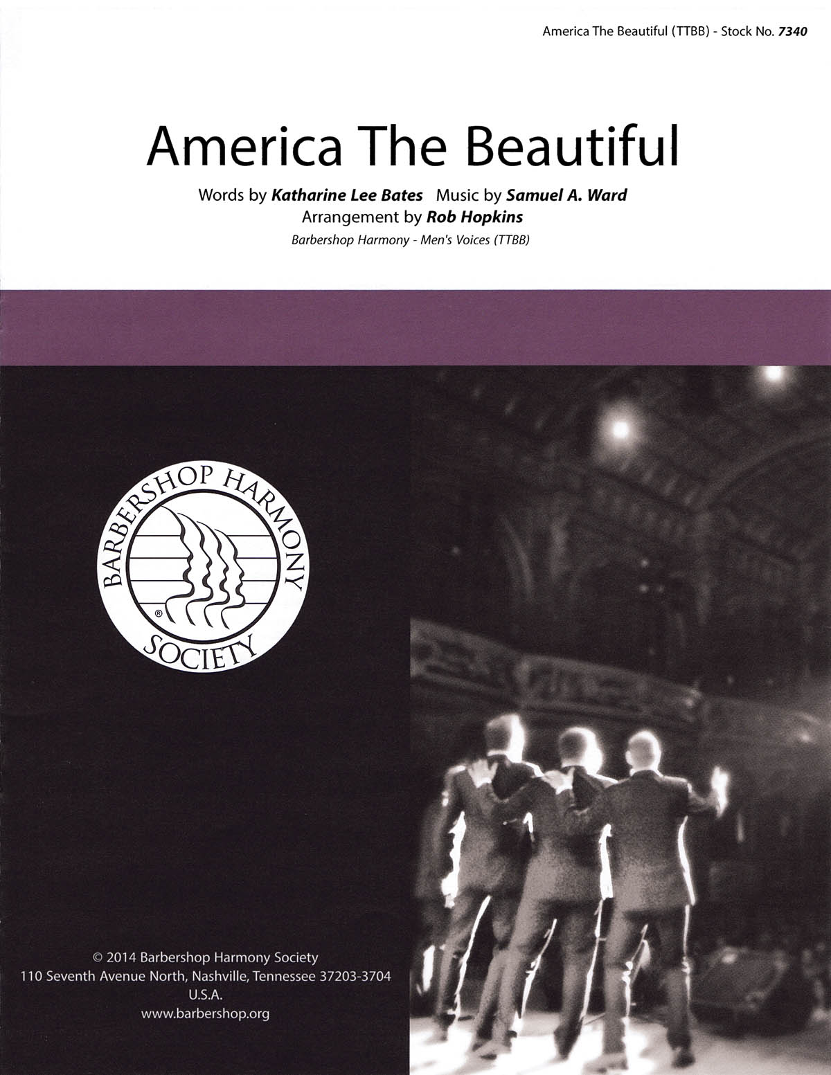America the Beautiful: Lower Voices a Cappella: Vocal Score