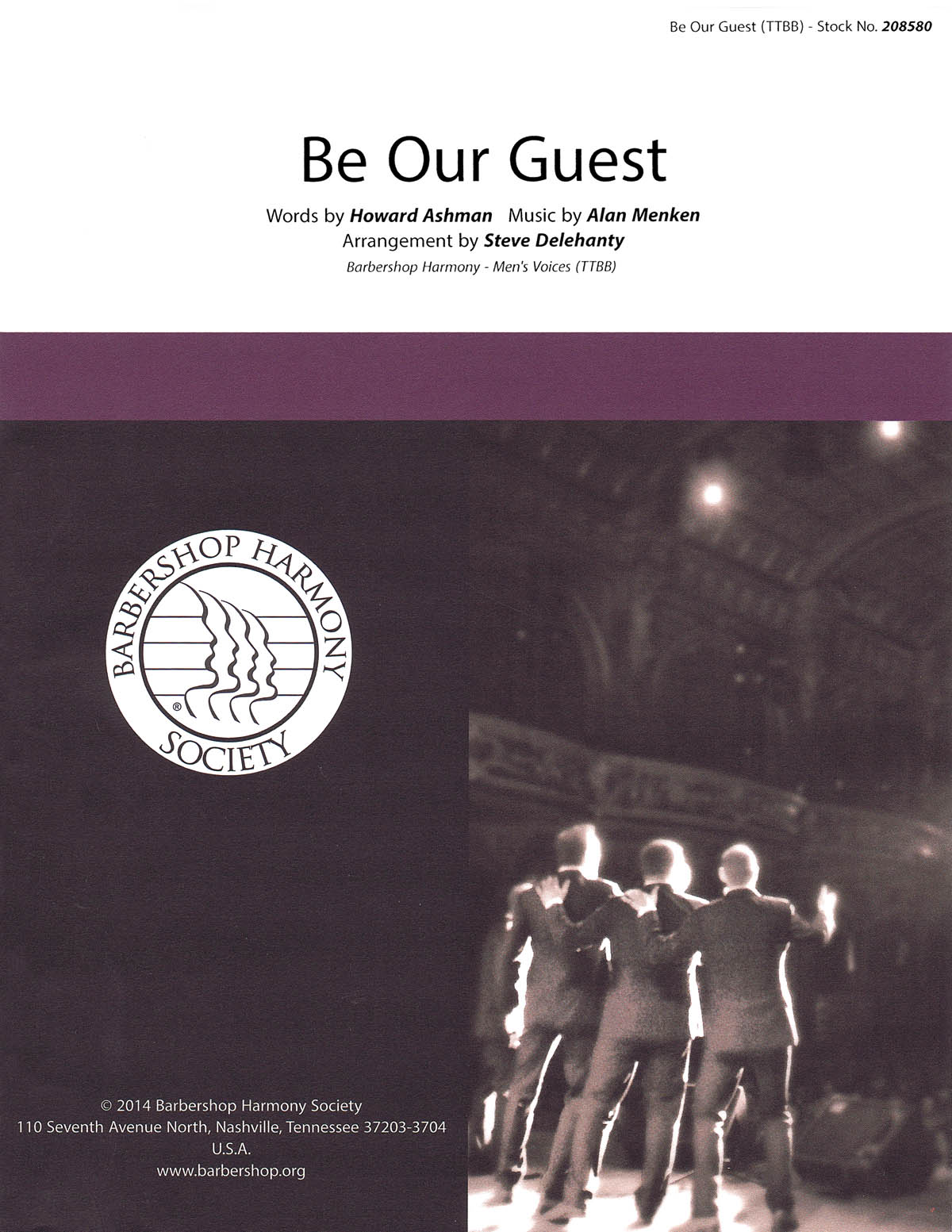 Be Our Guest: Lower Voices a Cappella: Vocal Score