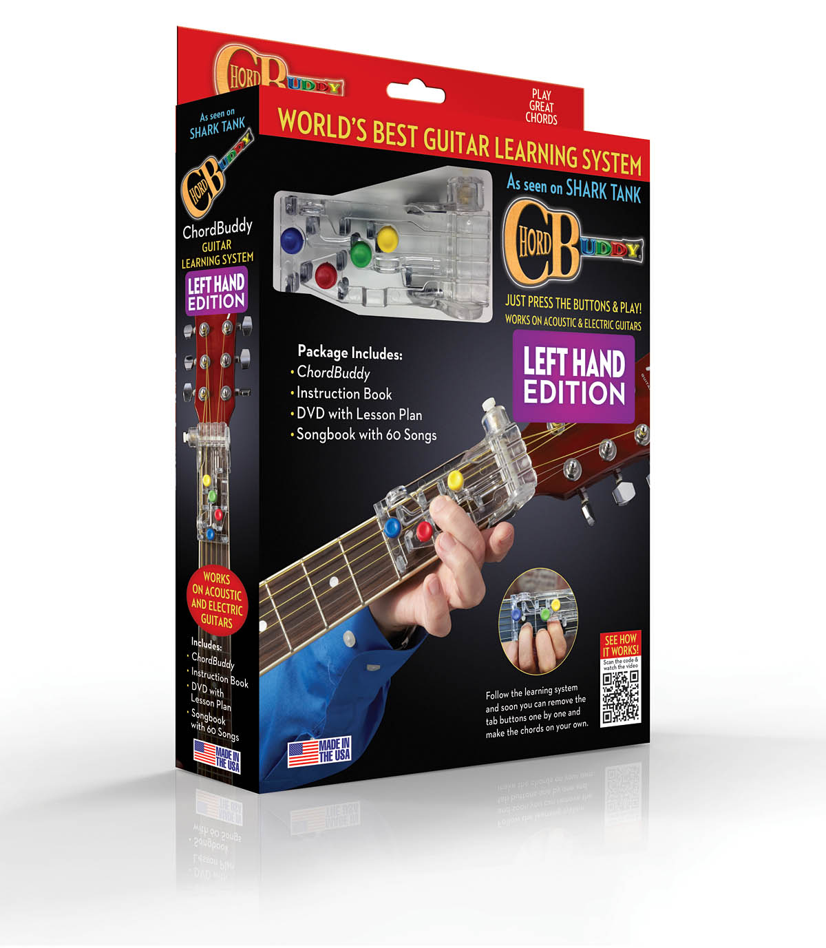 Travis Perry: ChordBuddy Left-Handed Guitar Learning Boxed Syste: Fingering