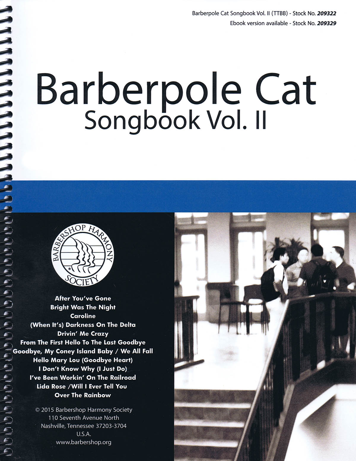 Barberpole Cat Songbook Volume 2: Lower Voices a Cappella: Vocal Score