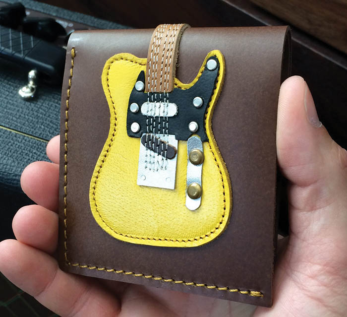 Blonde Electric Guitar Wallet: Accessory
